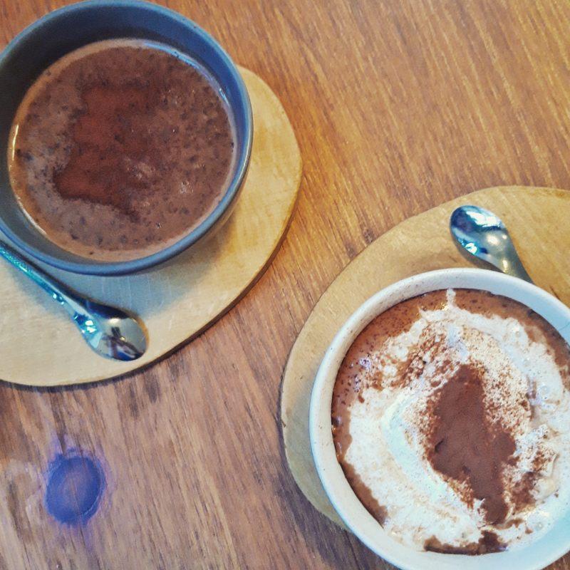 Hot chocolate at Racine Café