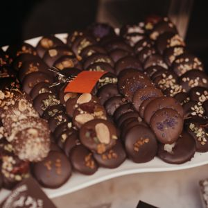French Christmas mendiant chocolates