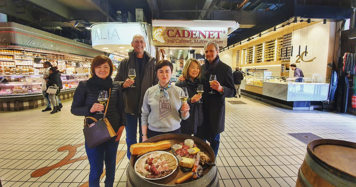 Food tour at the Victor Hugo Market in Toulouse